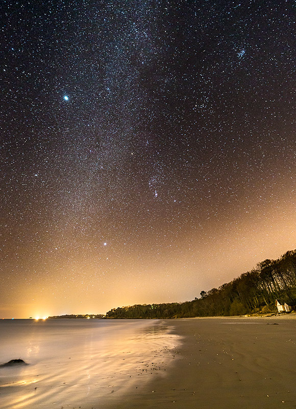 1357 Milky Way Priory Bay - The Isle of Wight at Night landscapes