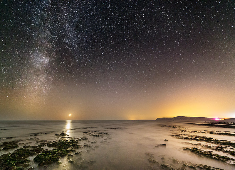 1439 Milky Way Compton Bay - The Isle of Wight at Night landscapes