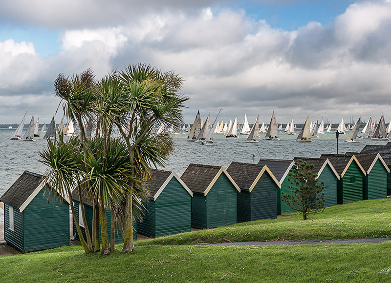 1248 Round the Island Race, Gurnard - Cowes, Newport and Carisbrooke landscapes