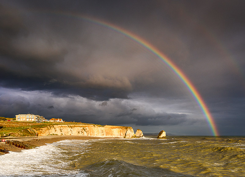 1682 Rainbow Freshwater Bay - Freshwater & Tennyson Down landscapes