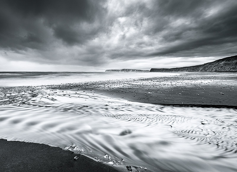 1667 Compton Bay bw - Compton and West Wight landscapes