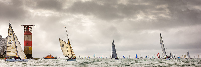 1064 Round the Island Race - Alum Bay and The Needles panoramics