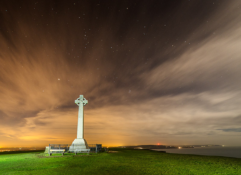 1626 Tennyson Down - The Isle of Wight at Night landscapes