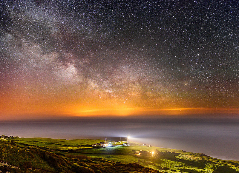 1534 Milky Way St Catherines Lighthouse - The Isle of Wight at Night landscapes