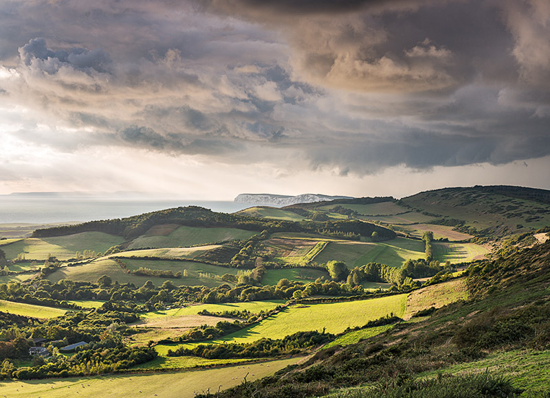 1341 Incoming Storm Brighstone - Compton and West Wight landscapes