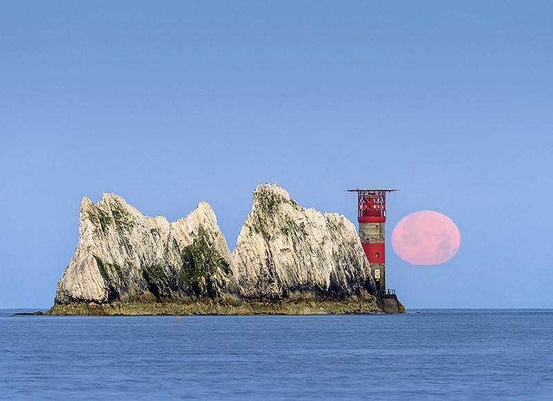1719 Moonset over The Needles - The Isle of Wight at Night landscapes