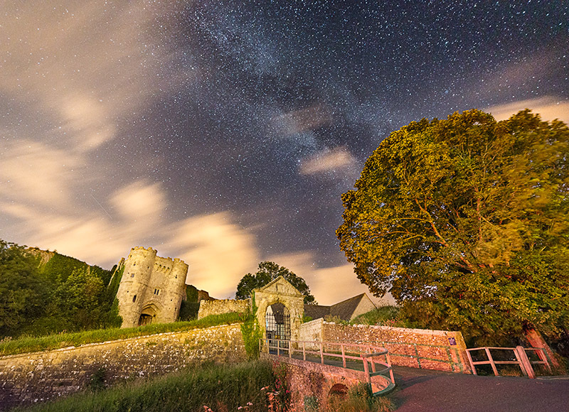 1415 Milky Way Carisbrooke Castle - The Isle of Wight at Night landscapes