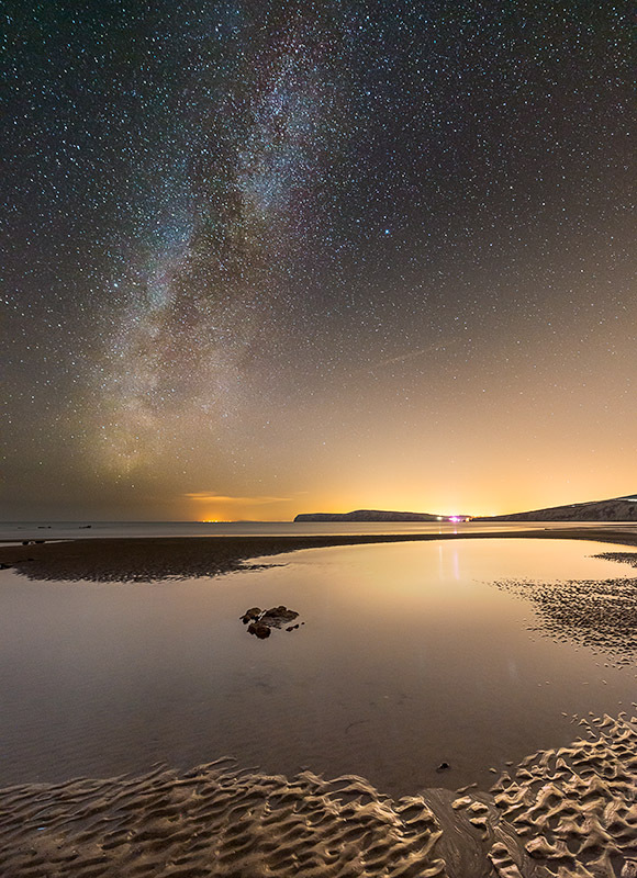 1350 Milky Way Compton Bay - The Isle of Wight at Night landscapes
