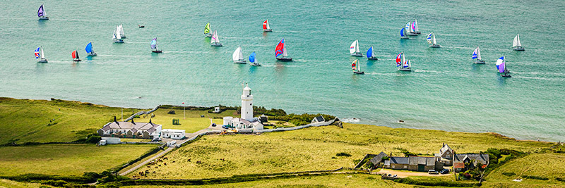 1881 Round the Island Race 2017 St Catherines Lighthouse - St. Catherine's Point panoramics