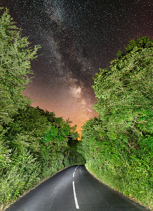 1417 Road to the Stars Milky Way at Knighton - The Isle of Wight at Night landscapes