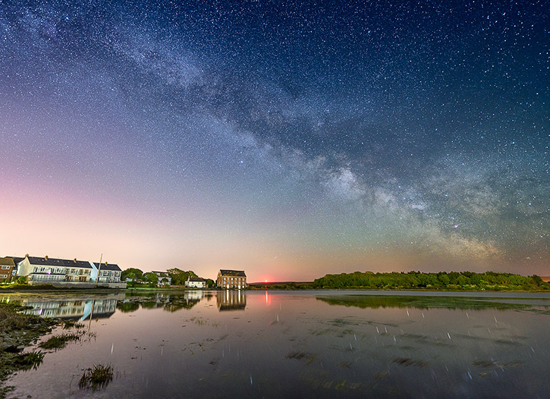 1540 Milky Way over The Old Mill Yarmouth - The Isle of Wight at Night landscapes