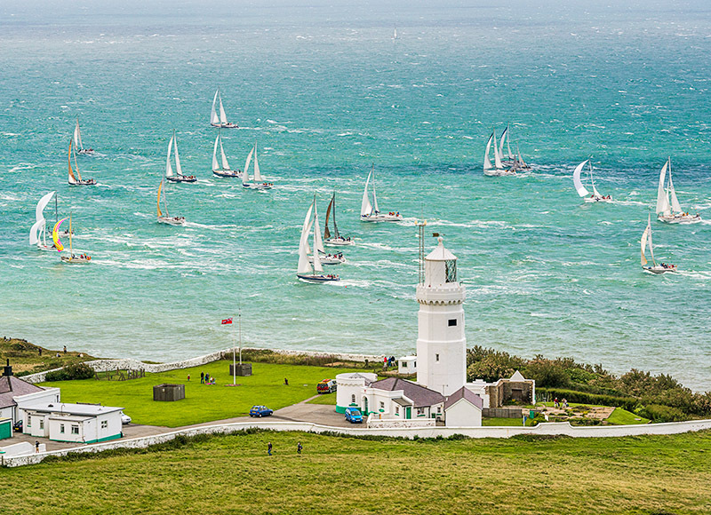 1714 Round the Island Race St Catherines Lighthouse - St. Catherine's Point landscapes