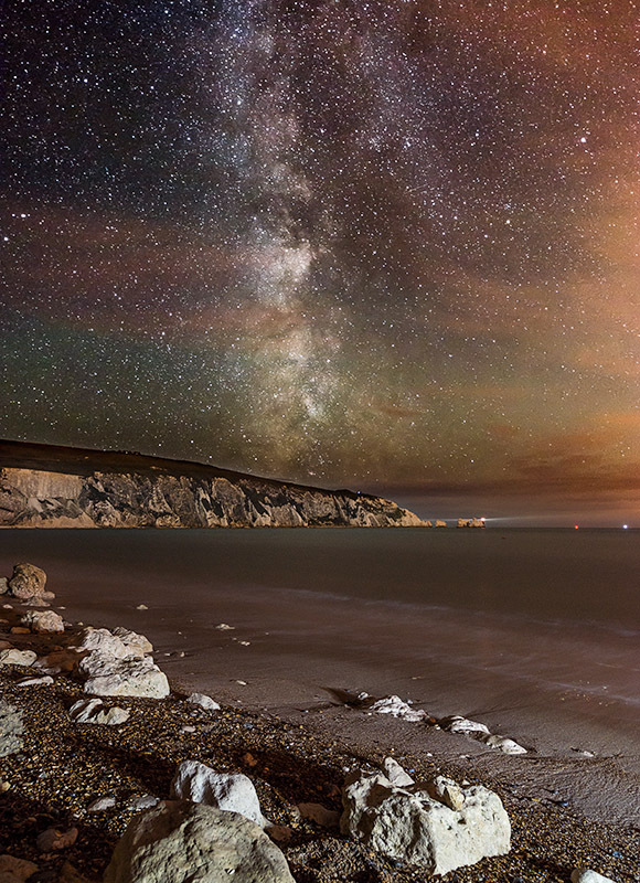 1314 Milky Way The Needles - Alum Bay and The Needles landscapes