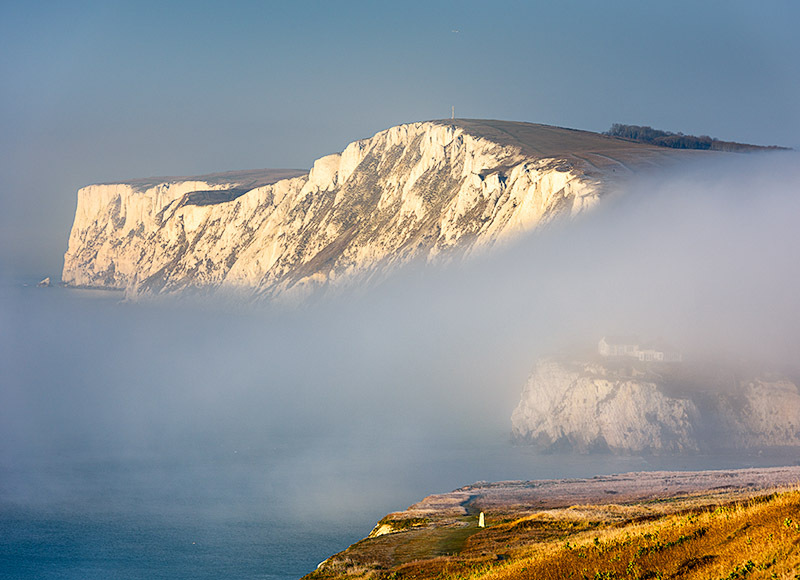 1801 Fog Tennyson Down - Freshwater & Tennyson Down landscapes
