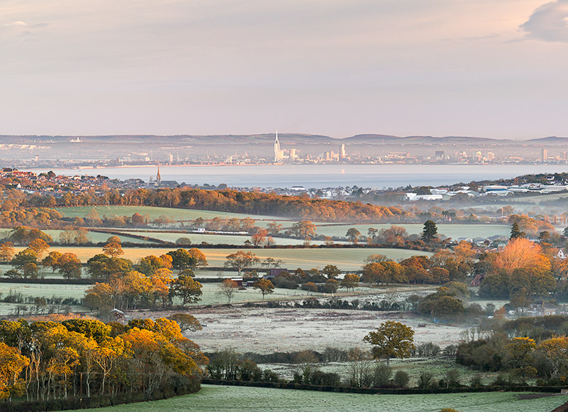1211 View from Ashey Down - Ryde, Havenstreet and Wootton landscapes