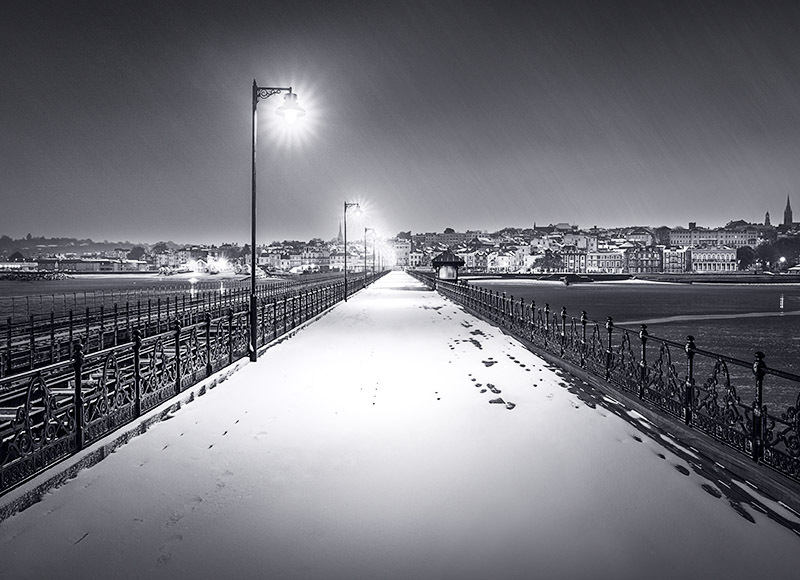 1966 Snow Ryde Pier - Ryde, Havenstreet and Wootton landscapes