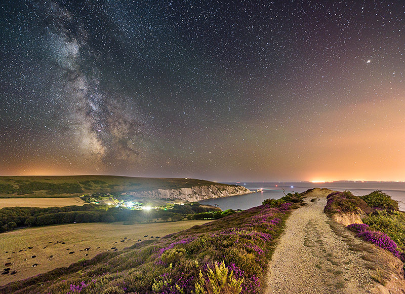 1576 Milky Way over The Needles - Alum Bay and The Needles landscapes