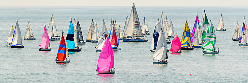 1835 Round the Island Race - St. Catherine's Point panoramics