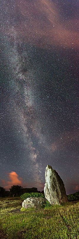 1424 Milky Way The Longstone - The Isle of Wight at Night panoramics