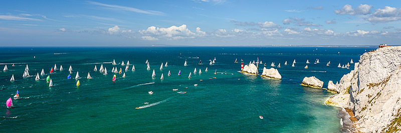 1564 Round the Island Race 2015 - Alum Bay and The Needles panoramics