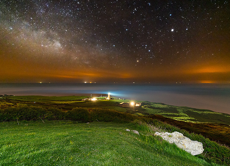 1398 Milky Way St Catherines Lighthouse - The Isle of Wight at Night landscapes