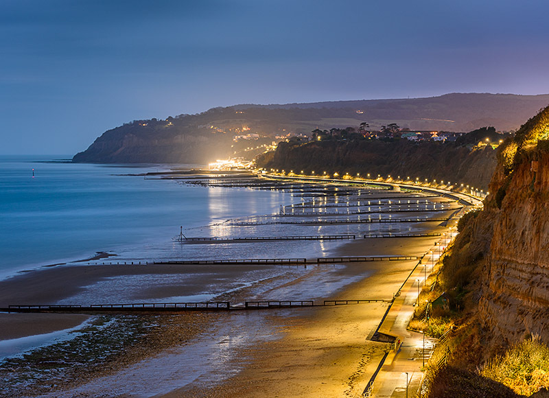 1774 Lake Beach looking towards Shanklin - The Isle of Wight at Night landscapes