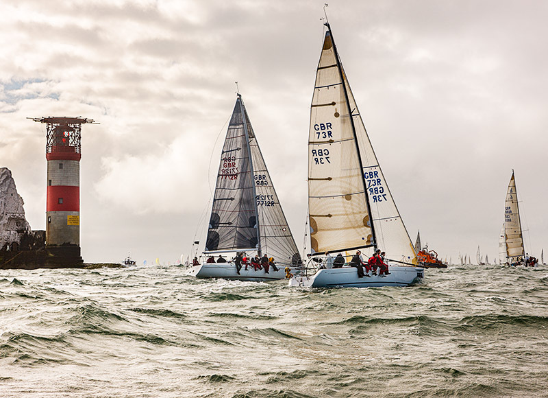 1788 Round the Island Race - Alum Bay and The Needles landscapes