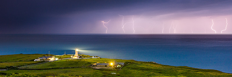 1554 Lightning St Catherines Lighthouse - The Isle of Wight at Night panoramics