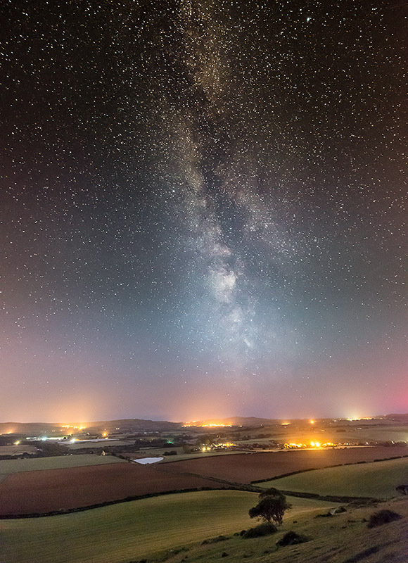 1376 Milky Way over Arreton Valley - The Isle of Wight at Night landscapes