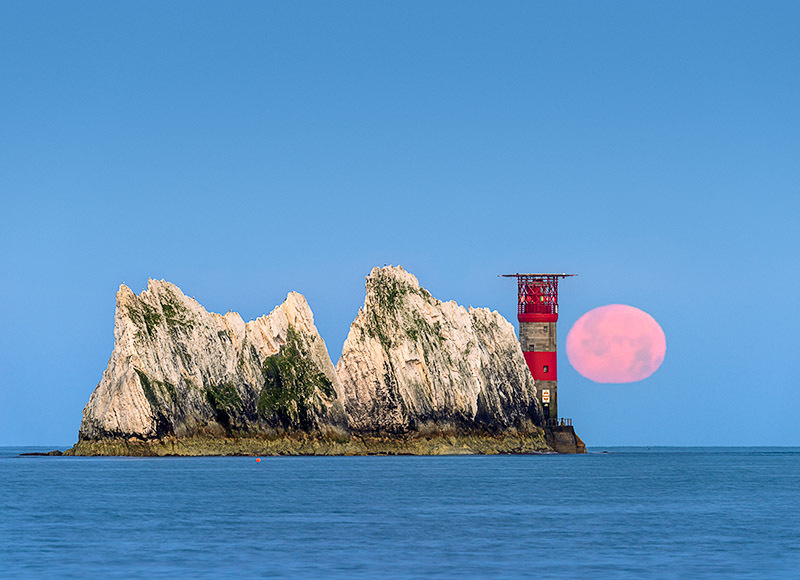1719 Moonset over The Needles - Alum Bay and The Needles landscapes