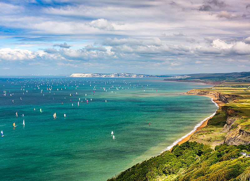 1883 Round the Island Race 2017 - Compton and West Wight landscapes