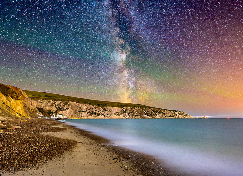 1736 Milky Way The Needles - The Isle of Wight at Night landscapes