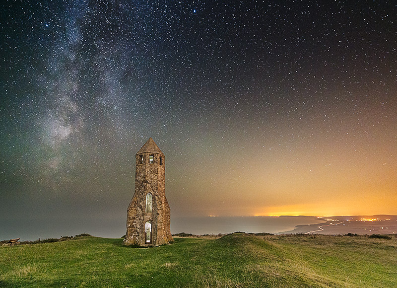 1433 Milky Way St Catherines Oratory - The Isle of Wight at Night landscapes