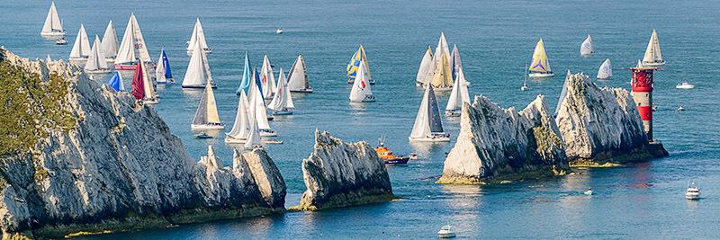 1480 Round the Island Race 2014 - Alum Bay and The Needles panoramics
