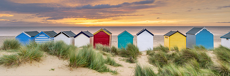 1381 Beach Huts Southwold - The Mainland panoramics