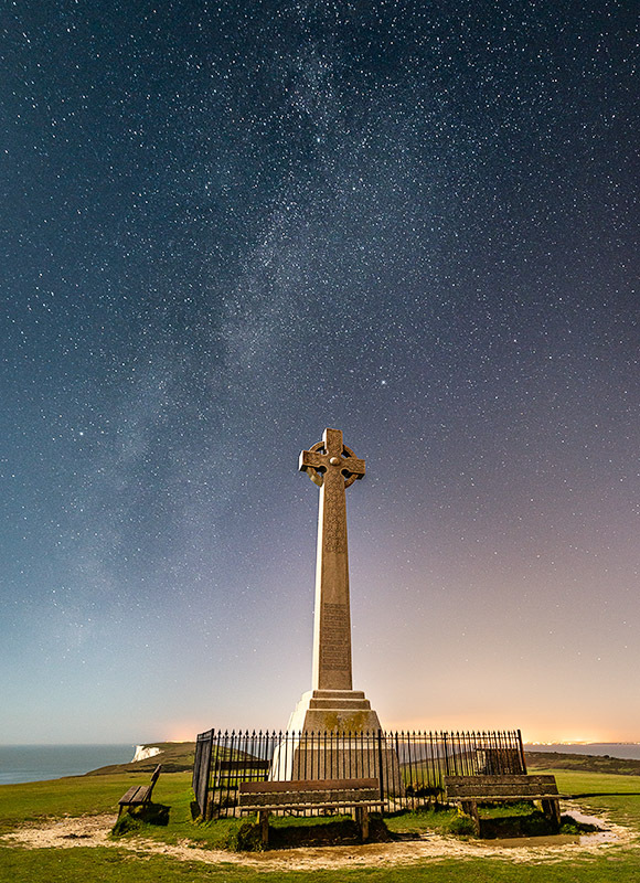 1348 Milky Way Tennyson Monument - The Isle of Wight at Night landscapes