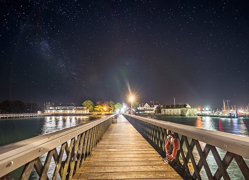 1544 Milky Way Yarmouth Pier - The Isle of Wight at Night landscapes