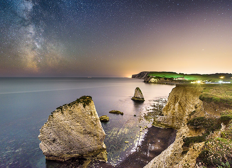 1597 Milky Way Freshwater Bay - The Isle of Wight at Night landscapes