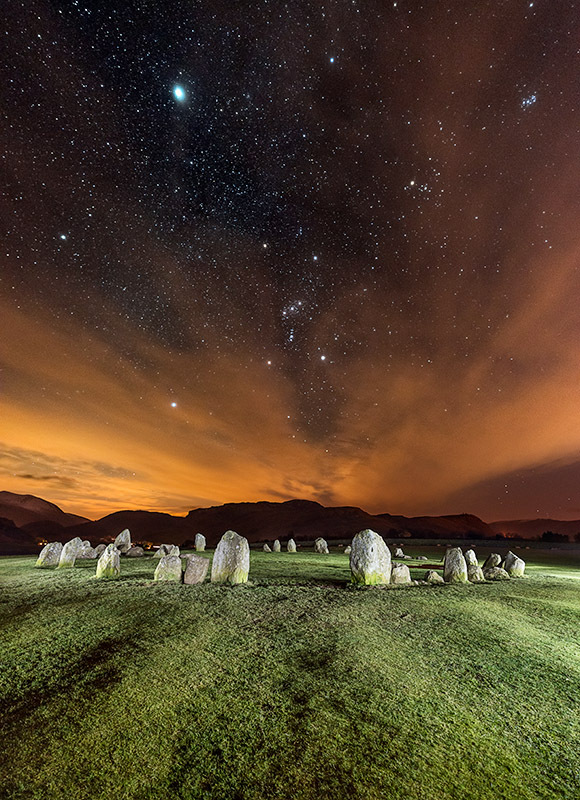 1368 Orion over Castlerigg Stone Circle - The Mainland landscapes