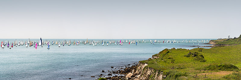1413 Round the Island Race 2014 - St. Catherine's Point panoramics