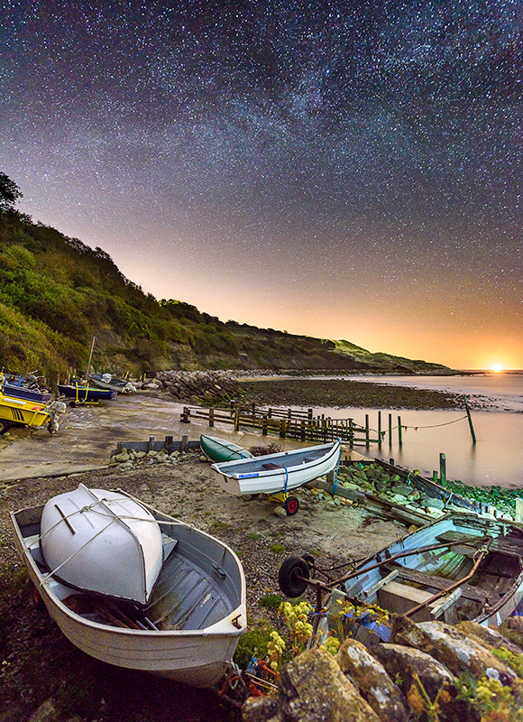 1536 Milky Way Castlehaven - The Isle of Wight at Night landscapes