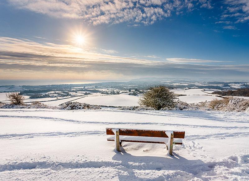 1953 Snow over Sandown Bay - Sandown, Shanklin and Godshill landscapes