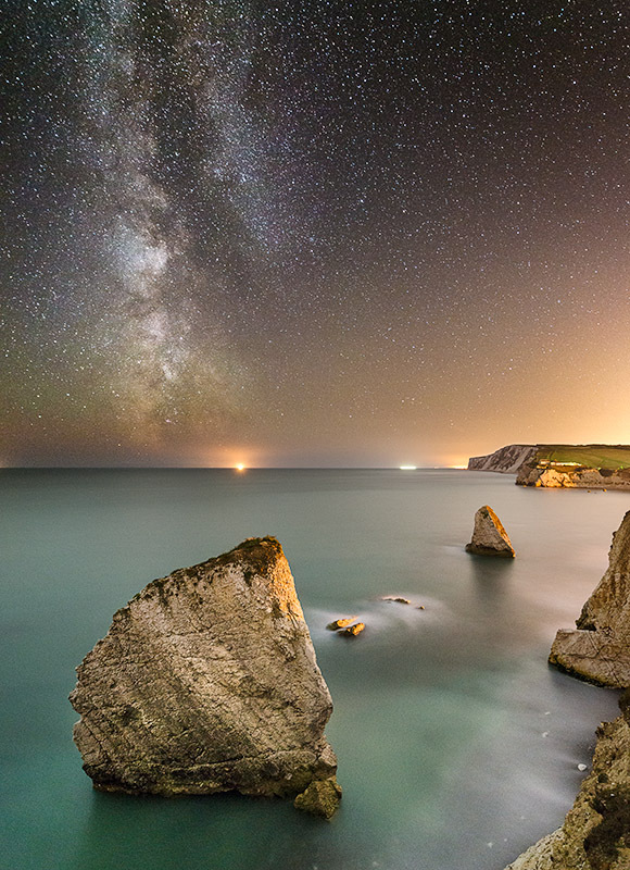 1430 Milky Way Freshwater Bay - The Isle of Wight at Night landscapes