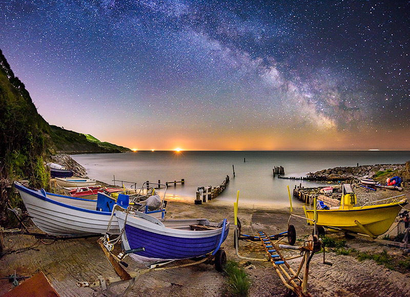 1866 Milky Way Castlehaven - The Isle of Wight at Night landscapes