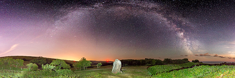 1525 Milky Way The Longstone - The Isle of Wight at Night panoramics
