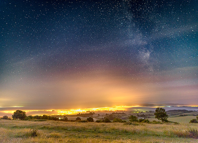 1681 Milky Way over Sandown Bay - The Isle of Wight at Night landscapes