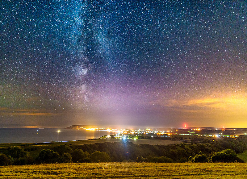 1824 Milky Way Sandown Bay - The Isle of Wight at Night landscapes
