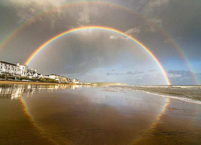 1444 Rainbow over Sandown Bay - Sandown, Shanklin and Godshill landscapes