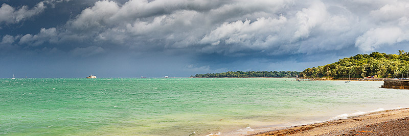 1149 Incoming Storm Seaview - Seaview and Priory Bay panoramics