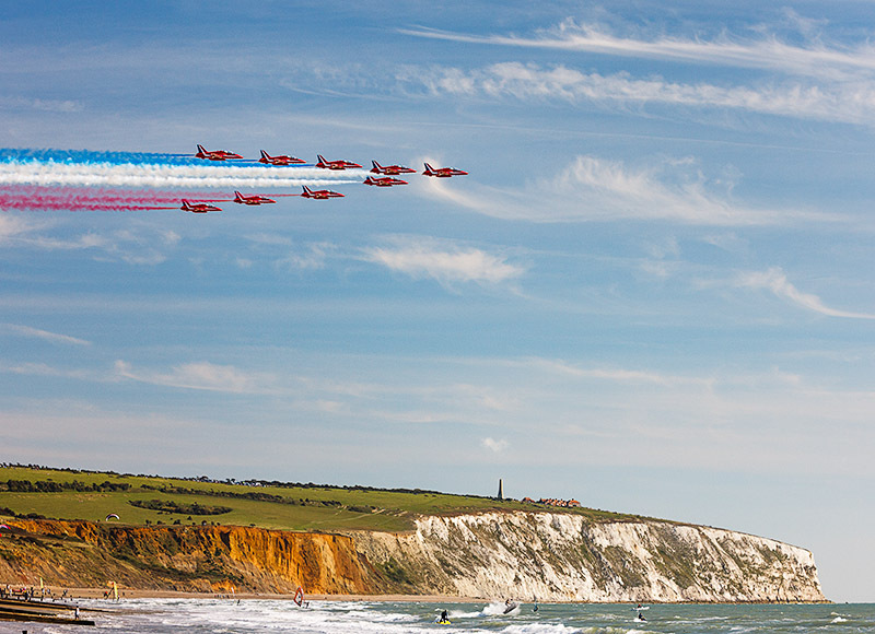 1675 The Red Arrows Sandown - Sandown, Shanklin and Godshill landscapes